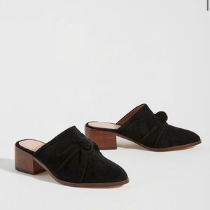 Anthropologie Tess Black Knotted Mules (Size 7)
